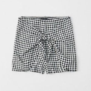 Gingham Tie Shorts